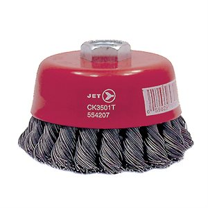 JET - 554207 - 3-1 / 2 X 5 / 8-11NC KNOT TWISTED CUP BRUSH - HIGH PERFORMANCE - CK3501T