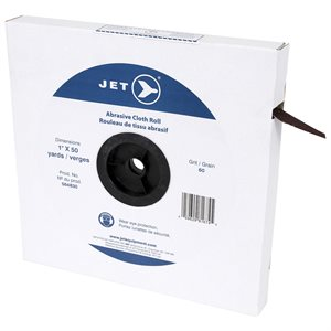 JET - ALUMINUM OXIDE CLOTH ROLL 50 YARDS, STEEL AND WOOD