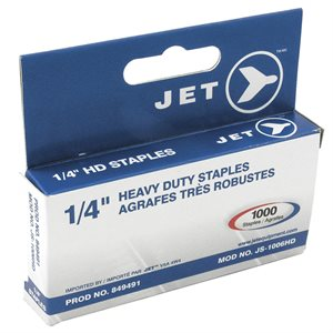 "JET - 849491 - 1 / 4"" STAPLES (1000 PCS) - HEAVY DUTY - JS-1006HD"