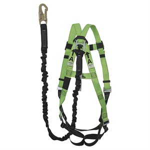 PEAKWORKS - V8252196 - CONTRACTOR FALL PROTECTION KIT - 6' (1.8) POY LANYARD - FBH-10000A1040-6