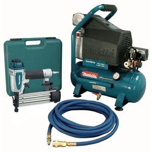 MAC700-KIT3 - 2 HP Air Compressor / Brad Nailer (AF505) Combo Kit - MAKITA