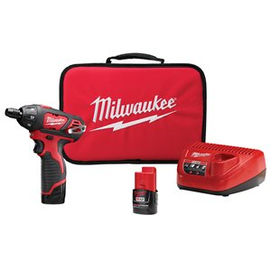 MILWAUKEE - 2401-22 - TOURNEVIS 12V LITHIUM ( ENSEMBLE)