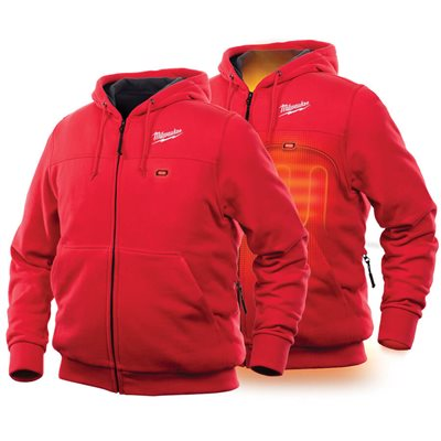 302R-20XL - Heated Hoodie Only XL (RED) - MILWAUKEE