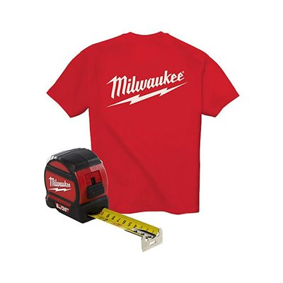48-22-7526T 8m / 26' Wide Blade Tape with T-Shirt MILWAUKEE