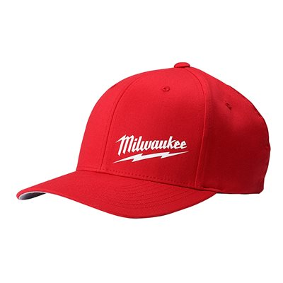 FLEX FITTED HAT - RED S / M