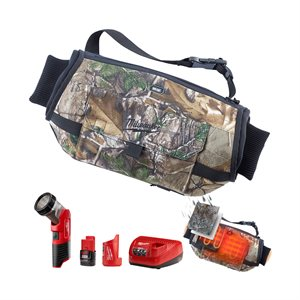 551C-21 - Heated Hand Warmer and LED Work Light Kit - Realtree Xtra - MILWAUKEE