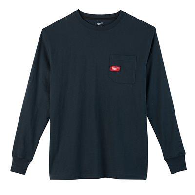 T-shirt à poche - Manches longues Bleu XL