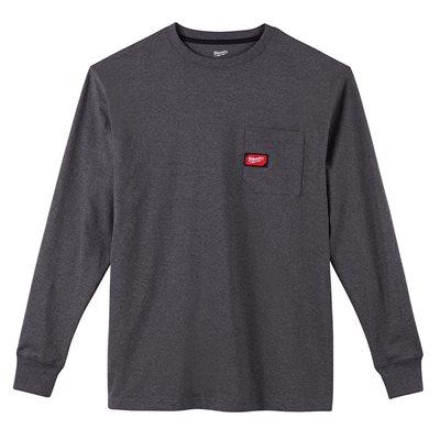 T-shirt à poche - Manches longues Gris 3X