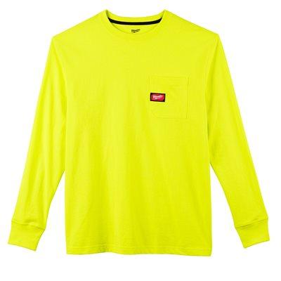 T-shirt à poche - Manches longues Hi Vis M
