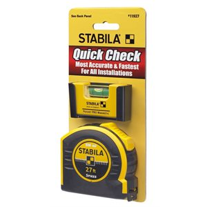 11927 QUICK CHECK POCKET PRO PLUS 27' TAPE - STABILA