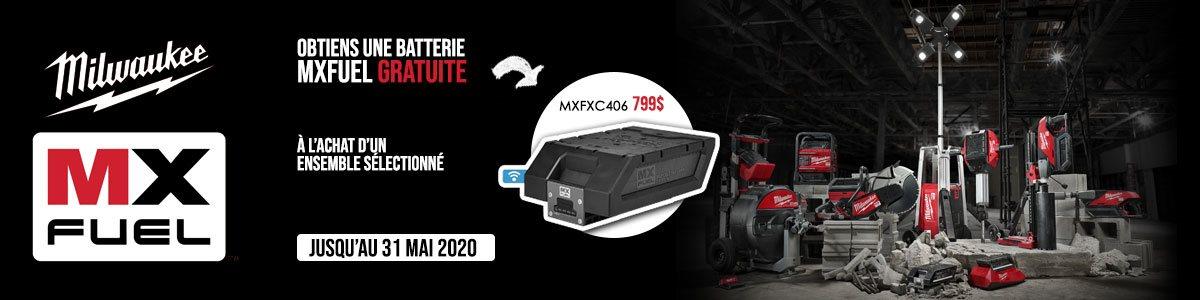 Promotion Batterie gratuite MXFUEL